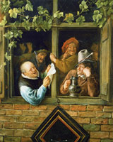 Jan Steen Rhetoricians at a Window