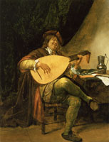 Jan Steen Self-Portrait as a Lutenist