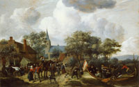 Jan Steen Village Festival with the Ship of Saint Rijn Uijt