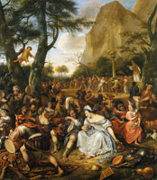 Jan Steen The Worship of the Golden Calf