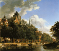 Jan van der Heyden An Imaginary Canal with the Church of Veere