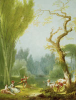 Jean-Honoré Fragonard A Game of Horse and Rider