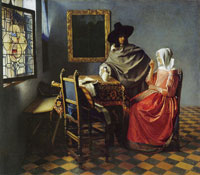 Johannes Vermeer The Glass of Wine