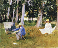 John Singer Sargent Claude Monet painting by the Edge of a Wood