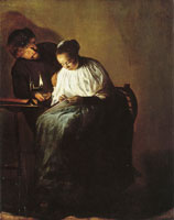 Judith Leyster Man Offering Money to a Young Woman