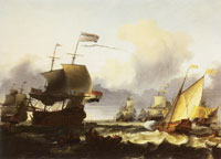 Ludolf Backhuysen The Dutch fleet with the Delfland, flagship of Michiel Adriaensz. de Ruyter, off the coast of Texel, 1665