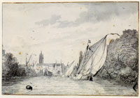 Ludolf Backhuysen The river Schie near Delft