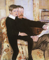 Mary Cassatt Alexander J. Cassatt and his Son Robert Kelso Cassatt