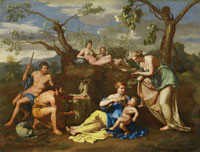 Follower of Nicolas Poussin - Nymphs Feeding the Child Jupiter