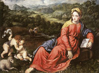 Paris Bordone The Rest on the Flight into Egypt