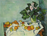Paul Cézanne Still Life with Apples and a Pot of Primroses