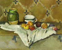 Paul Cézanne Still Life with Jar, Cup, and Apples