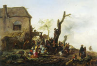 Philips Wouwerman Farmers in front of an inn
