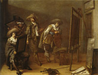 Pieter Codde Art lovers in a workshop