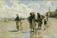 John Singer Sargent Fishing for Oysters at Cancale