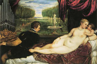 Titian Venus and the organ player