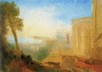 J.M.W. Turner Overlooking the coast with classical building