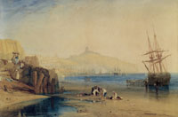 Joseph Turner Scarborough town and castle