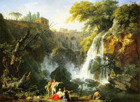 Claude-Joseph Vernet The waterfalls of Tivoli with the villa of Meacenas