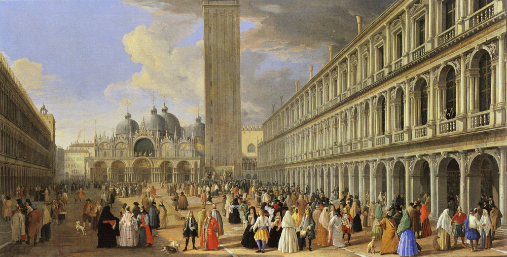 Luca Carlevarijs - The Piazza San Marco, looking East