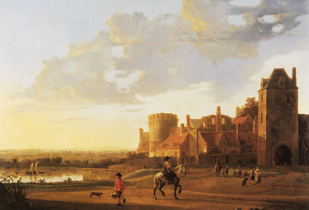 Aelbert Cuyp - Landscape with a view of the Valkhof, Nijmegen