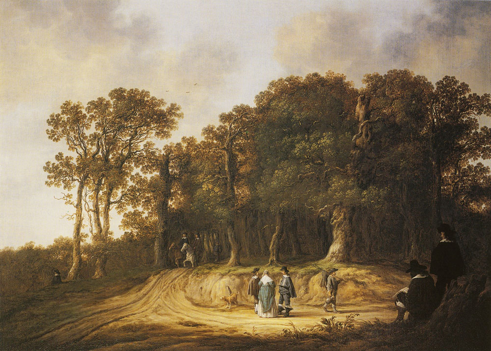 Aelbert Cuyp - Wooded landscape with an artist