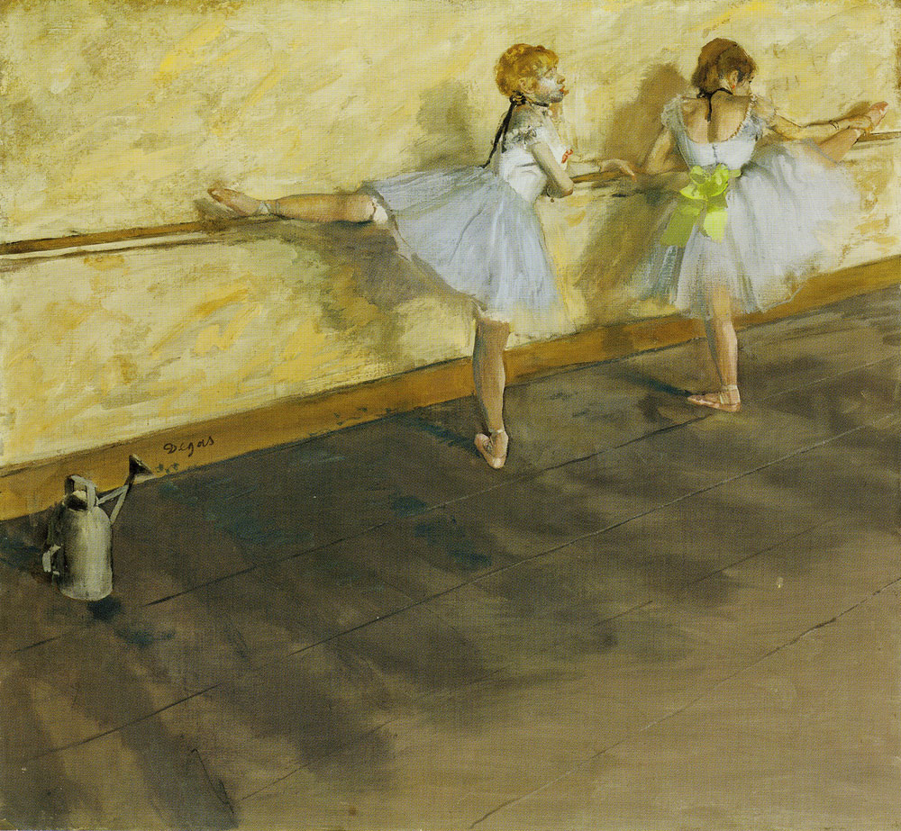 Edgar Degas - Dancers Practicing at the Bar