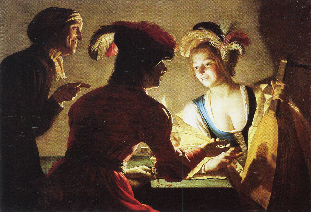 Gerard van Honthorst - The procuress