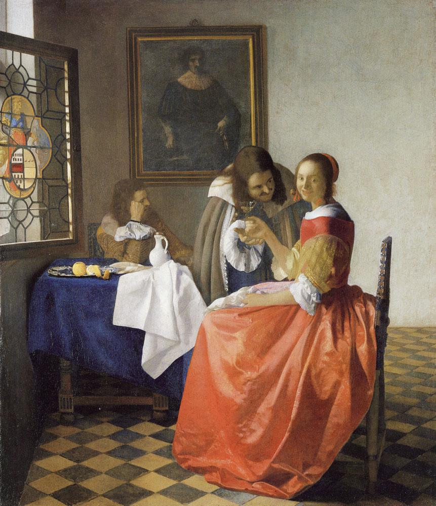 Johannes Vermeer - Young Woman with a Wine Glass