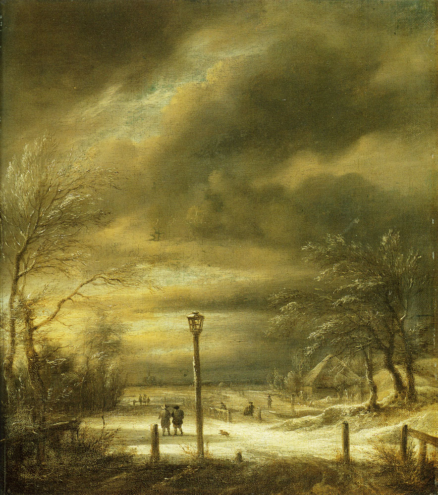 Jacob van Ruisdael - Winter Landscape with a Distant View of Haarlem