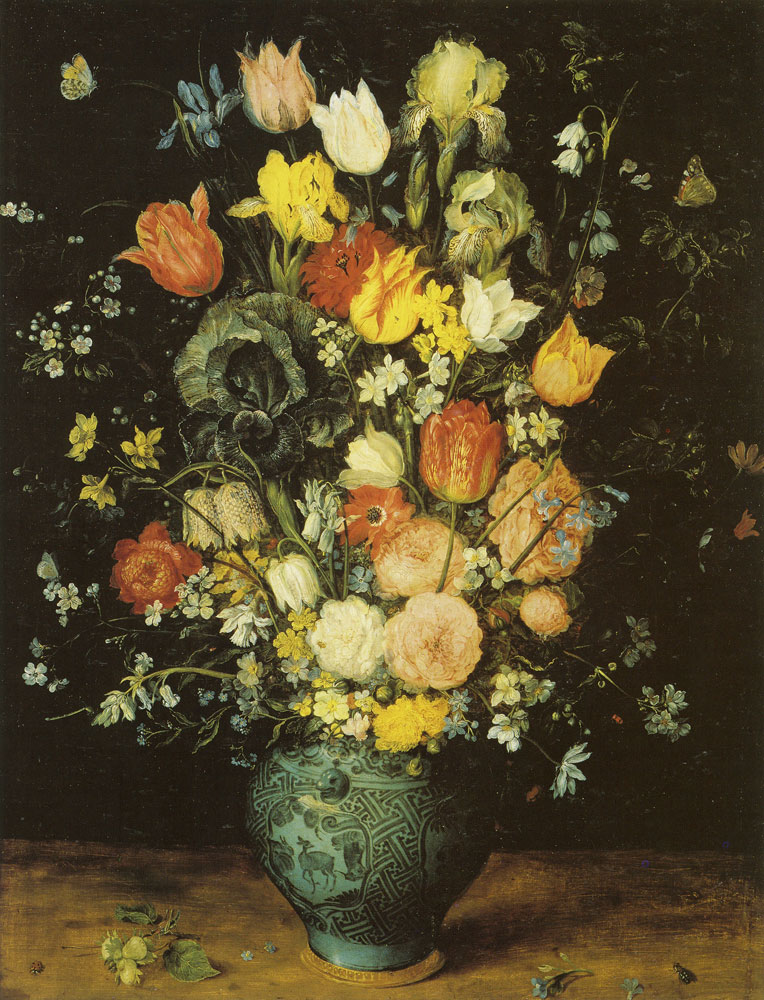 Jan Brueghel the Elder - Flowers in a Chinese Porcelain Vase