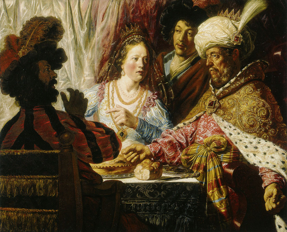 Attributed to Jan Lievens - The Feast of Esther