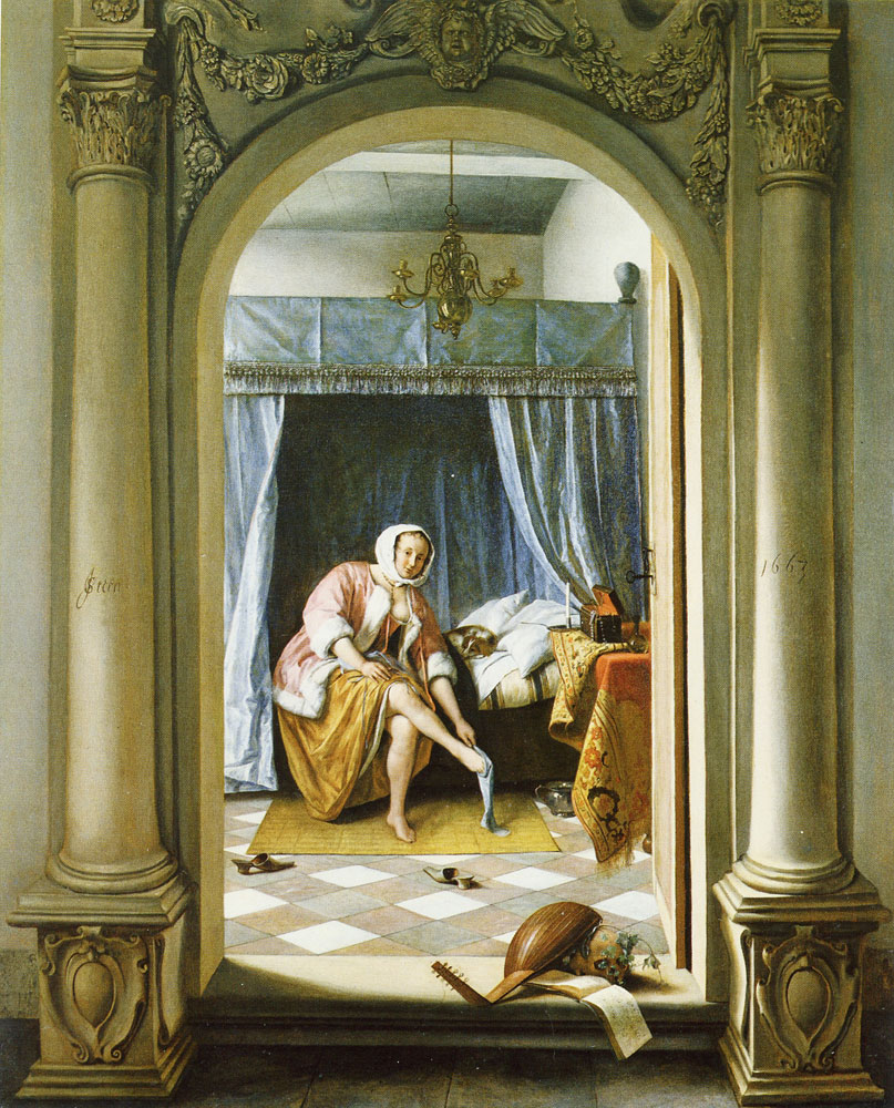 Jan Steen - A Woman at Her Toilet
