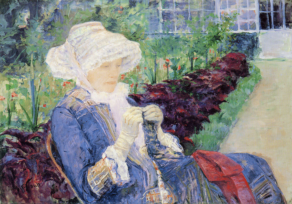Mary Cassatt - Lydia crocheting in the Garden at Marly