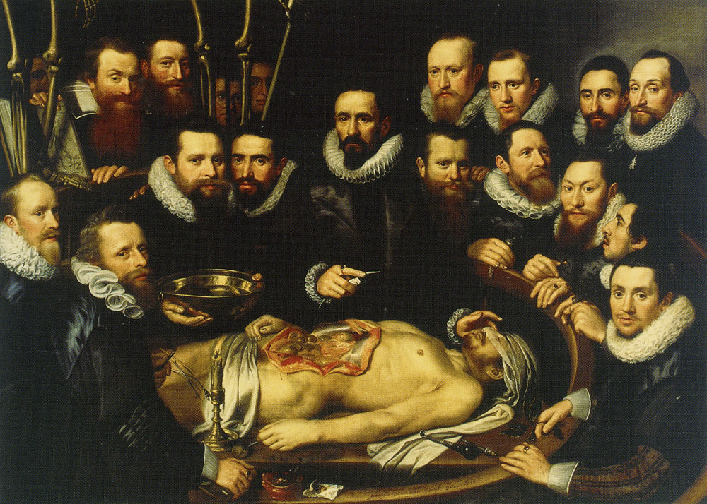 Michiel and Pieter van Mierevelt - The Anatomy Lesson of Dr. Willem van der Meer