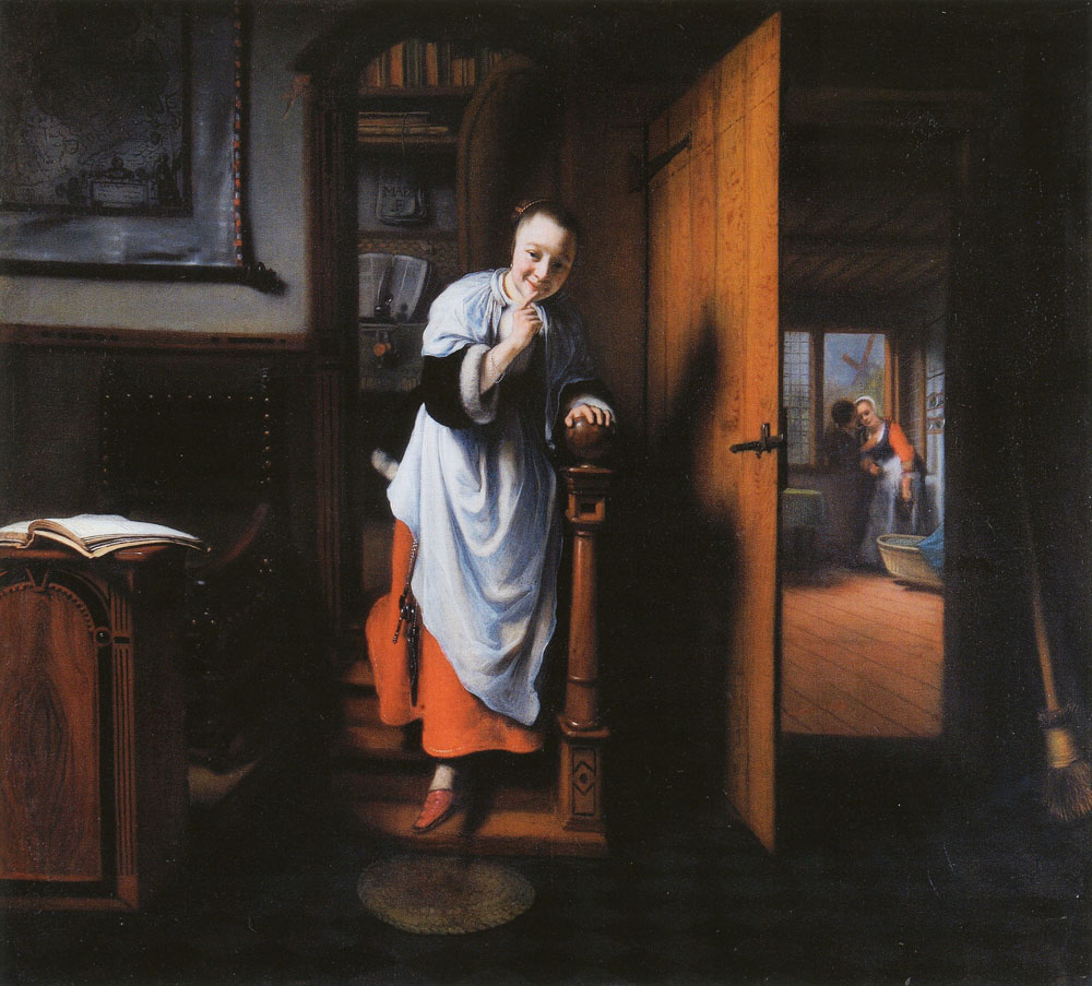 Nicolaes Maes - The Eavesdropper