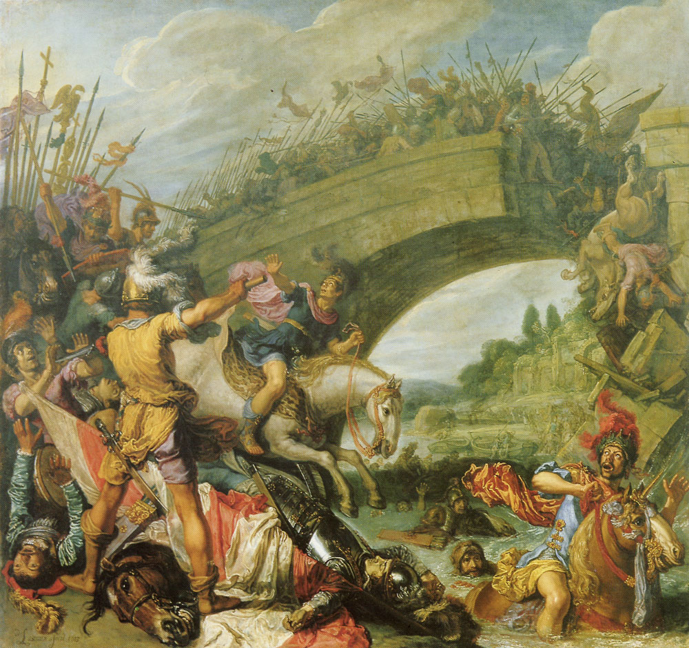 Pieter Lastman - The Battle of Constantine and Masentius