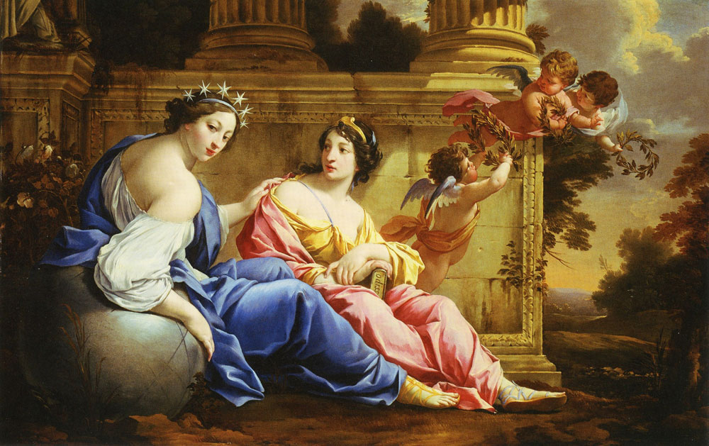 Simon Vouet and Studio - The Muses Urania and Calliope