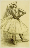 Edgar Degas Ballet dancer resting