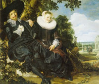 Frans Hals Double Portrait of Isaac Massa and Beatrix van der Laen