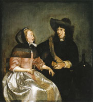 Gerard ter Borch - Young Couple Drinking Wine