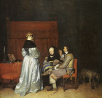 Gerard ter Borch - Gallant conversation (known as Paternal admonition)