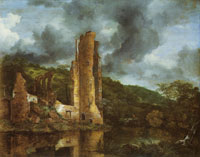 Jacob van Ruisdael - Landscape with the Ruins of Egmond Castle at Egmond aan den hoef