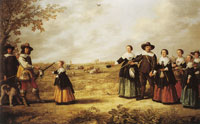 Jacob and Aelbert Cuyp Portrait of a family in a landscape