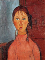 Amedeo Modigliani - Girl with Pigtails