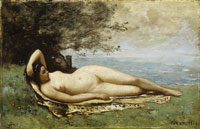 Camille Corot Bacchante by the Sea