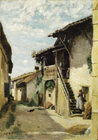 Camille Corot A Village Street: Dardagny