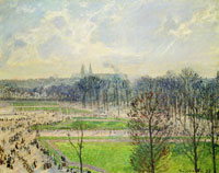 Camille Pissarro The Garden of the Tuileries on a Winter Afternoon