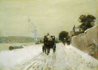 Childe Hassam Along the Seine, Winter