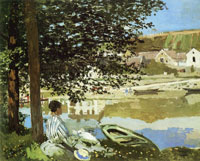 Claude Monet On the Bank of the Seine, Bennecourt